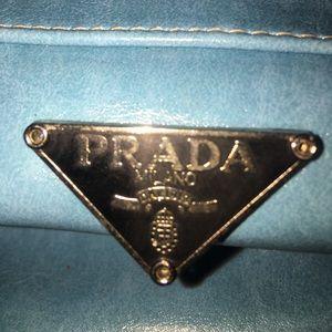 sky blu vintage PRADA milano handbag